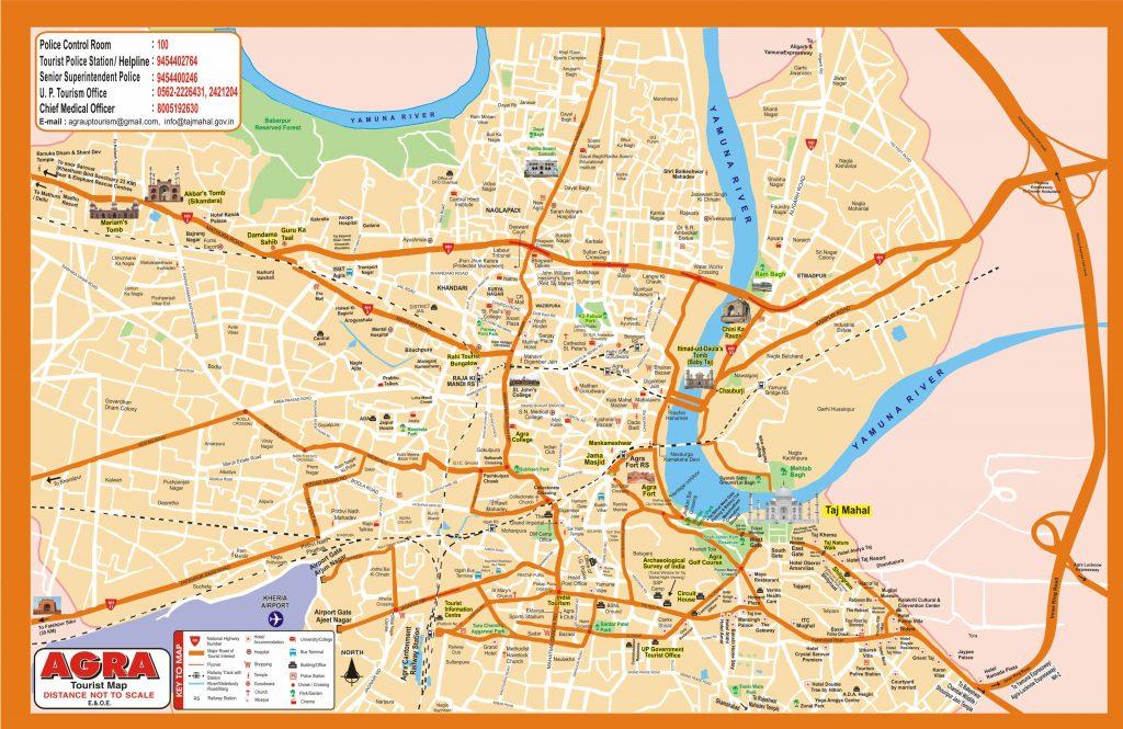 Mapa Ciudad del Taj Mahal